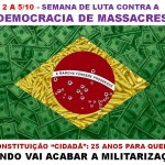 Carta Convite: SEMANA CONTRA A DEMOCRACIA DOS MASSACRES