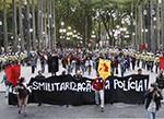 Manifestantes pedem pela desmilitarização da Polícia