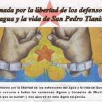 Convocatória – Jornada pela liberdade dos defensores da água e da vida de San Pedro Tlanixco