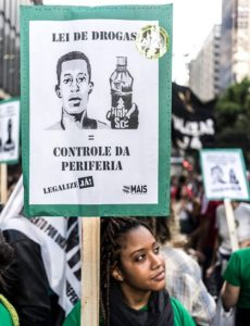 Bloco pela Liberdade de Rafael Braga na Marcha da Maconha SP. Crédito: Tiago Macambira