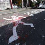 Local onde o carroceiro Ricardo Silva Nascimento foi executado. Ele morreu após levar três tiros da polícia militar, nesta quarta-feira (12), em Pinheiros, zona oeste de São Paulo. foto: andre porto