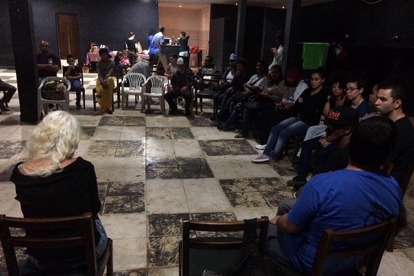 Na favela do Moinho, encontro discutiu a violência de Estado.