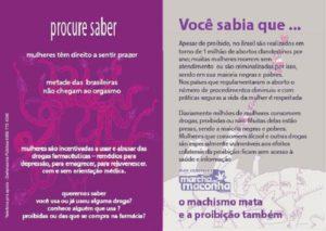 Panfleto do Bloc Feminista de SP.