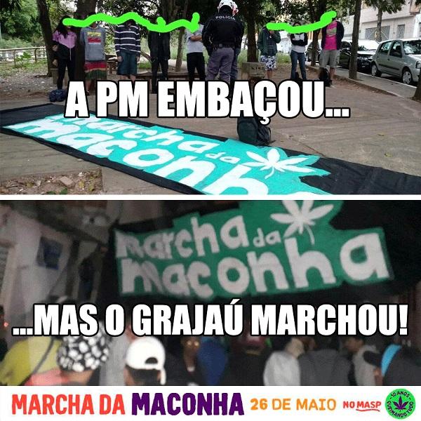 foto2 No Grajaú, polícia ainda não entendeu que falar de maconha não é crime